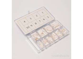 Типсы для ногтей (классический белый френч, короткая контактная зона), 500 шт