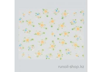 Наклейки для дизайна ногтей 3D (цветы) №1632