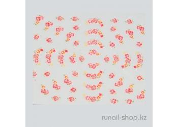 Наклейки для дизайна ногтей 3D (цветы) №1635