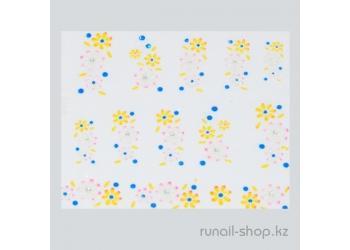 Наклейки для дизайна ногтей 3D (цветы) №1691