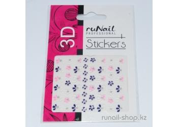 Наклейки для дизайна ногтей 3D (цветы) №1704