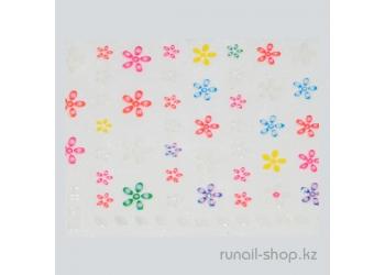 Наклейки для дизайна ногтей 3D (цветы) №1705