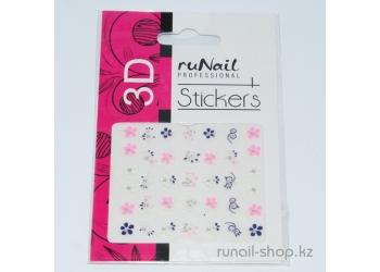 Наклейки для дизайна ногтей 3D (цветы) №1706