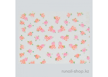 Наклейки для дизайна ногтей 3D (цветы) №1712