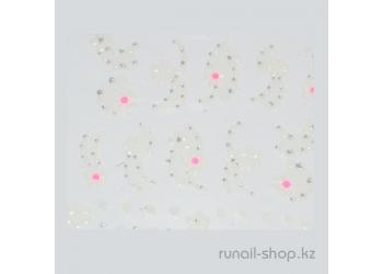 Наклейки для дизайна ногтей 3D (цветы) №1714