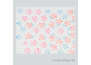Наклейки для дизайна ногтей 3D (цветы) №1728