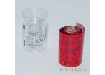 Фольга переводная для маникюра (красный, голографический), 1,5 м