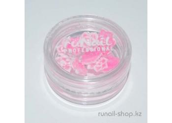 Акриловые цветы для наращивания ногтей  (розы, розовый), 10 шт