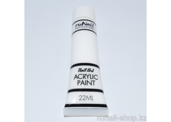 Акриловая краска для нейл-арт (белая), 22 мл