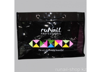 Сумка ruNail professional (черная, с цветными вставками)