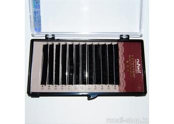 Ресницы для наращивания Luxury, Ø 0,10 мм, №13, изгиб D, 12 линий
