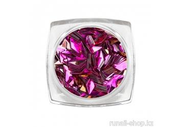 Дизайн для ногтей: 3D ромбы (цвет: розовый кварц)