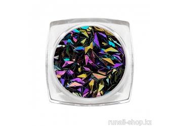 Дизайн для ногтей: 3D ромбы (цвет: черный опал)