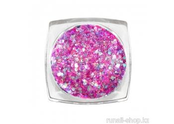 Дизайн для ногтей: блестки mix (цвет: сиреневый)