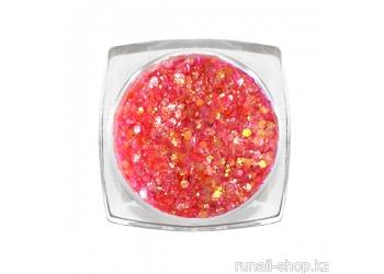 Дизайн для ногтей: блестки mix (цвет: розовый)