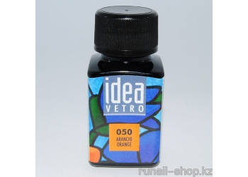 Витражные краски для ногтей Idea Vetro - №50 оранжевый,10мл