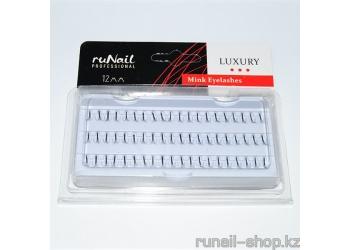 Пучки для наращивания ресниц без узелков Luxury, норка Ø 0,15 мм, №12