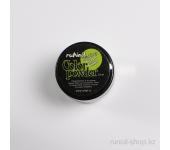 Цветная акриловая пудра (с блёстками, светло-зеленая, Sparkling Green Glitter), 7,5 г