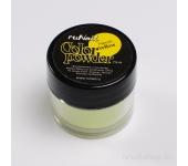 Цветная акриловая пудра (флуоресцентная, желтая, Neon Yellow), 7,5 г