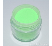 Цветная акриловая пудра (флуоресцентная, зеленая, Neon Green), 7,5 г