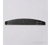 Пилка для искусственных ногтей (чёрная, полукруглая, 100/180)