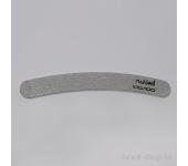Пилка для искусственных ногтей (серая, бумеранг, 100/100)