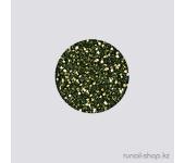 Дизайн для ногтей:  блёстки (изумрудно-зеленый)