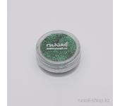 Дизайн для ногтей:  блёстки (зеленый)