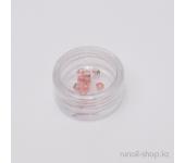 Пластиковые цветы для ногтей (чайная роза, красный)