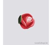 Пластиковые цветы для ногтей (голландская роза, ярко-красный)