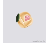 Пластиковые цветы для ногтей (голландская роза, персиковый)