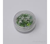 Дизайн для ногтей: бантики из ткани для ногтей (зеленый)