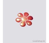 Дизайн для ногтей: цветы из ткани для ногтей (красный)