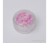 Дизайн для ногтей: бантики из ткани для ногтей(светло-розовый)