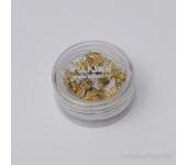 Дизайн для ногтей: бабочки из ткани для ногтей(золотой)
