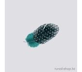 Перья для дизайна ногтей (темно-зеленый)