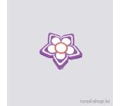 Резиновые аппликации для ногтей (цветочки, сиреневый)