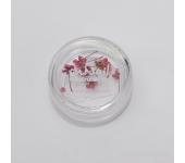 Сухоцветы для ногтей (розово-сиреневый)