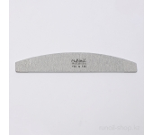 Пилка для искусственных ногтей (серая, полукруглая, 150/180)