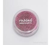 Дизайн для ногтей:  блёстки (розовый металлик)
