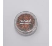 Дизайн для ногтей:  блёстки (коричнево-красный)