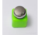 Помпа для жидкости (непрозрачный пластик, с металлической крышкой, зеленая)