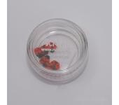 Резиновые аппликации для ногтей (божья коровка, красный)