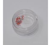 Резиновые аппликации для ногтей (стрекоза, красно-голубой)