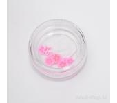 Резиновые аппликации для ногтей (цветы, розовый)