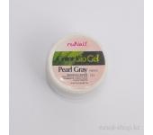 Цветной биогель (перламутровый, Серый жемчуг, Pearl Gray), 7,5 г