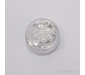 Фольга для дизайна ногтей (серебряный)