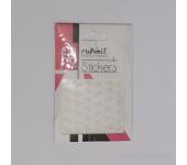 Наклейки для дизайна ногтей ЗD (белые цветы) №1461