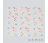 Наклейки для дизайна ногтей 3D (цветы) №1627