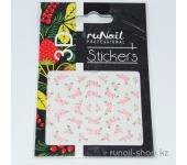 Наклейки для дизайна ногтей 3D (цветы) №1634